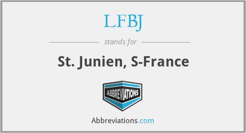 LFBJ - St. Junien, S-France
