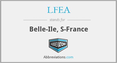 LFEA - Belle-Ile, S-France