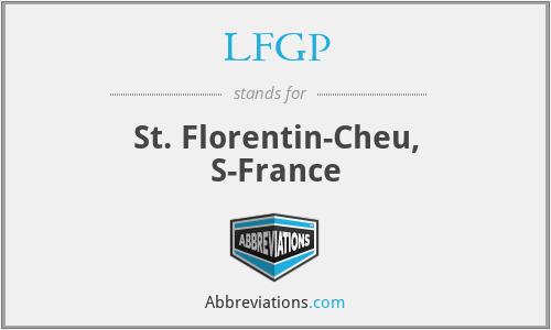 LFGP - St. Florentin-Cheu, S-France