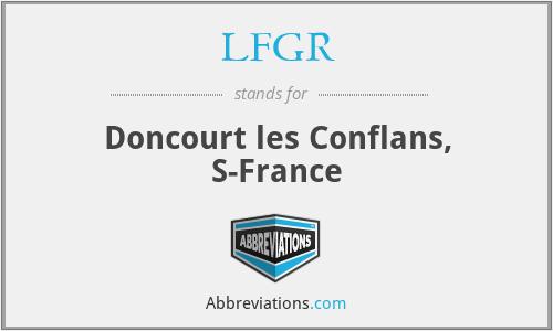 LFGR - Doncourt les Conflans, S-France