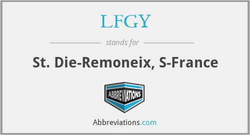 LFGY - St. Die-Remoneix, S-France