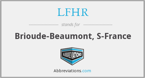 What does LFHR stand for?
