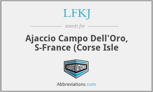 LFKJ - Ajaccio Campo Dell'Oro, S-France (Corse Isle