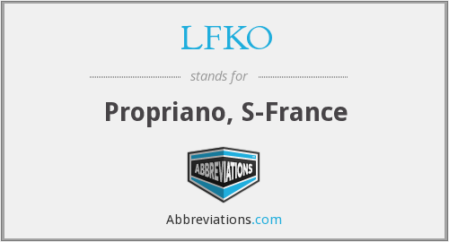 What does LFKO stand for?