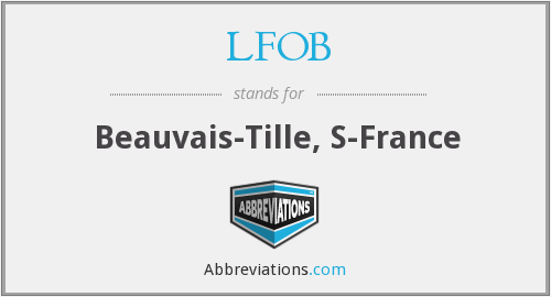 LFOB - Beauvais-Tille, S-France