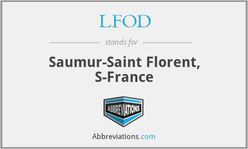 LFOD - Saumur-Saint Florent, S-France