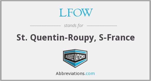 LFOW - St. Quentin-Roupy, S-France