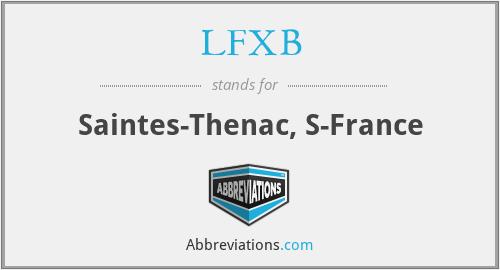 LFXB - Saintes-Thenac, S-France