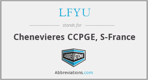 LFYU - Chenevieres CCPGE, S-France
