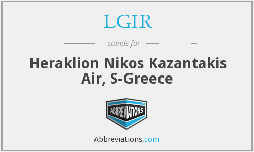 LGIR - Heraklion Nikos Kazantakis Air, S-Greece