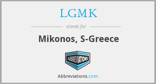 LGMK - Mikonos, S-Greece