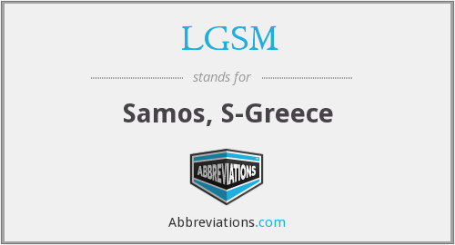 LGSM - Samos, S-Greece