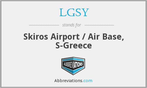 LGSY - Skiros Airport / Air Base, S-Greece