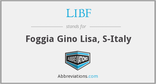 What does LIBF stand for?