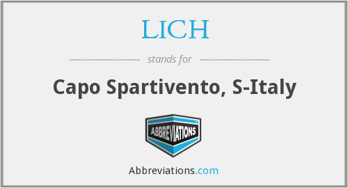 LICH - Capo Spartivento, S-Italy