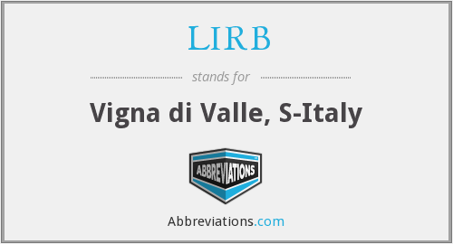 What does LIRB stand for?