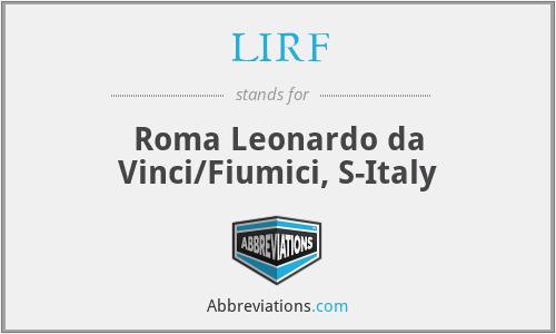 LIRF - Roma Leonardo da Vinci/Fiumici, S-Italy