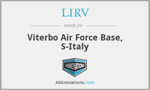 LIRV - Viterbo Air Force Base, S-Italy