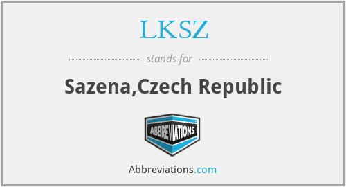LKSZ - Sazena,Czech Republic
