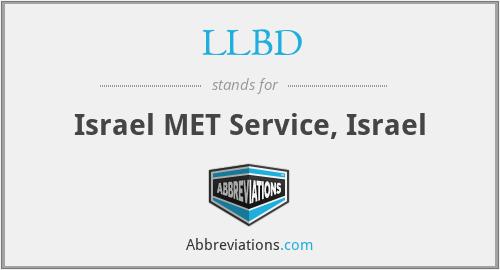LLBD - Israel MET Service, Israel