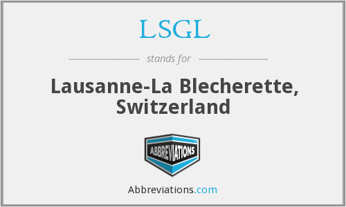 What does LSGL stand for?