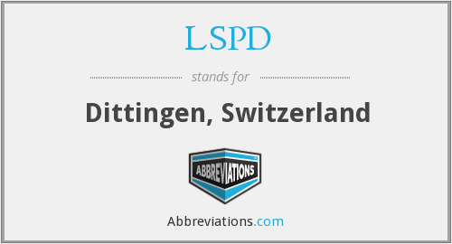 LSPD - Dittingen, Switzerland