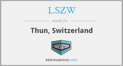 LSZW - Thun, Switzerland
