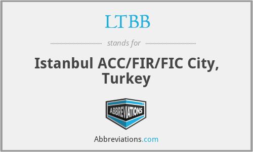 LTBB - Istanbul ACC/FIR/FIC City, Turkey