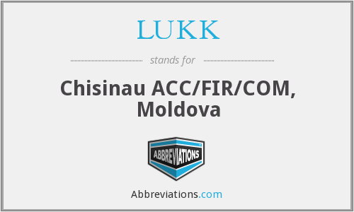 LUKK - Chisinau ACC/FIR/COM, Moldova