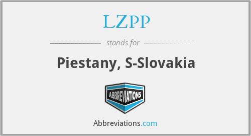 LZPP - Piestany, S-Slovakia