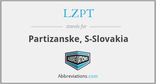 LZPT - Partizanske, S-Slovakia