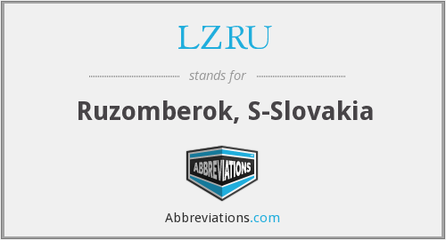 What does LZRU stand for?