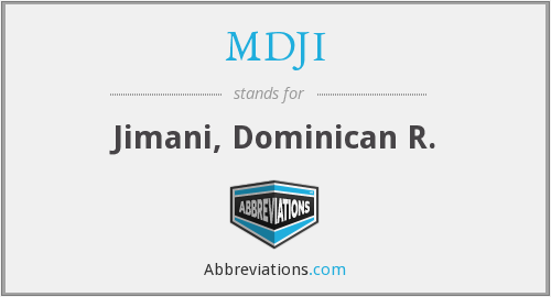 What does MDJI stand for?