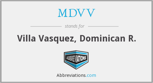 What does MDVV stand for?