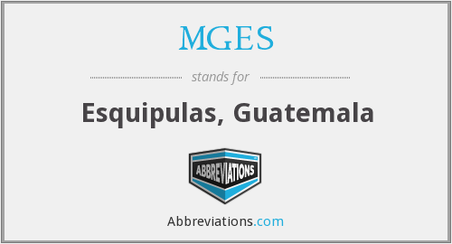 What does MGES stand for?