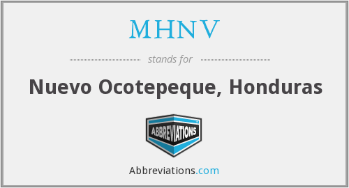 What does MHNV stand for?