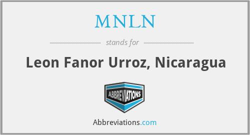MNLN - Leon Fanor Urroz, Nicaragua