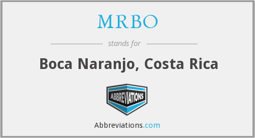 What does MRBO stand for?