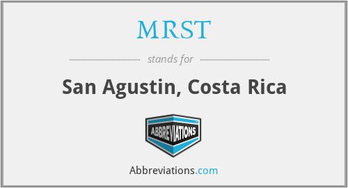 MRST - San Agustin, Costa Rica