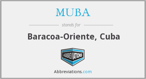 MUBA - Baracoa-Oriente, Cuba