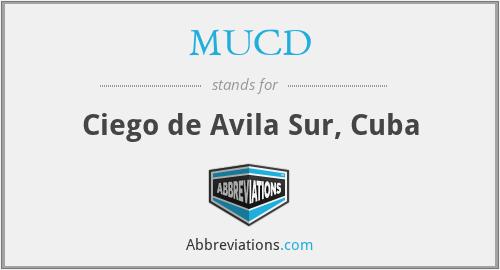 MUCD - Ciego de Avila Sur, Cuba