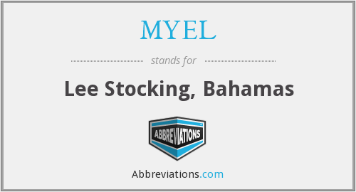 MYEL - Lee Stocking, Bahamas
