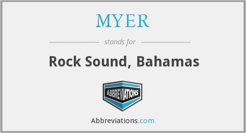 What does MYER stand for?