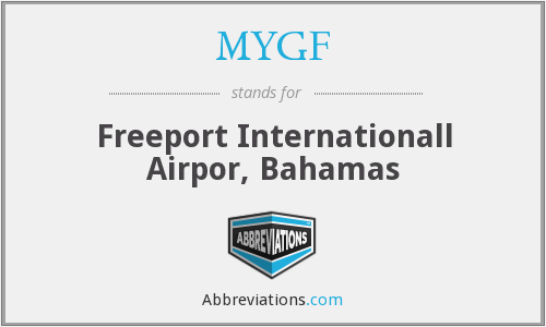 MYGF - Freeport Internationall Airpor, Bahamas