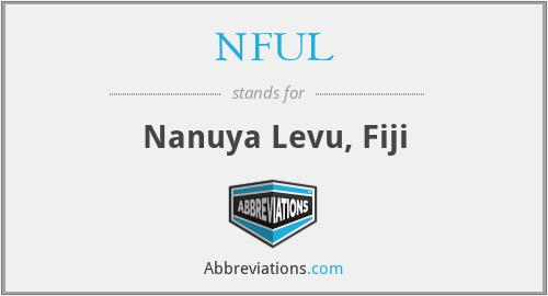 NFUL - Nanuya Levu, Fiji