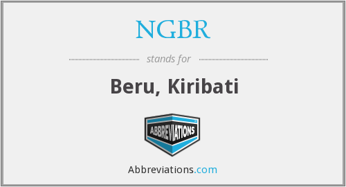 What does NGBR stand for?
