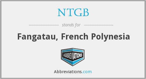 What does NTGB stand for?
