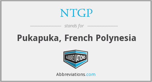 What does NTGP stand for?