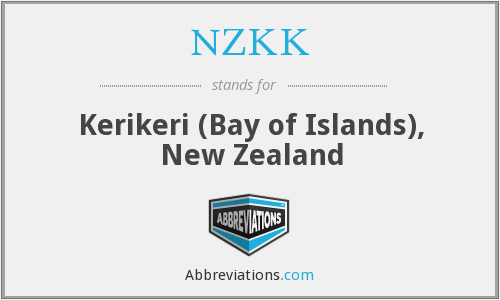 NZKK - Kerikeri (Bay of Islands), New Zealand