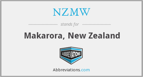 What does NZMW stand for?